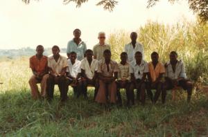 Erster Ausbildungsgang an der Teco mit Instruktoren und Pater Karl Hartl WV 1980