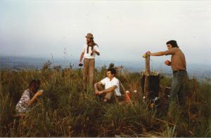 Kathrine und Bill Pearce, Tom Maier und Leo Engeler Dezember 1980